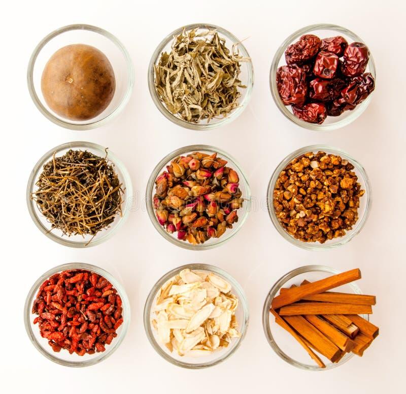 składnik chińska ziołowa medycyna obraz stock