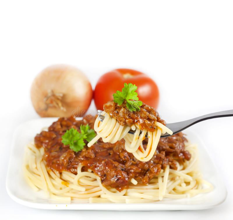składnika spaghetti obraz stock