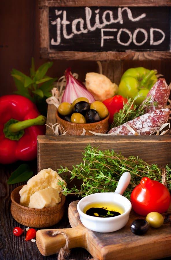 składniki żywności kulinarni włoskich obraz royalty free