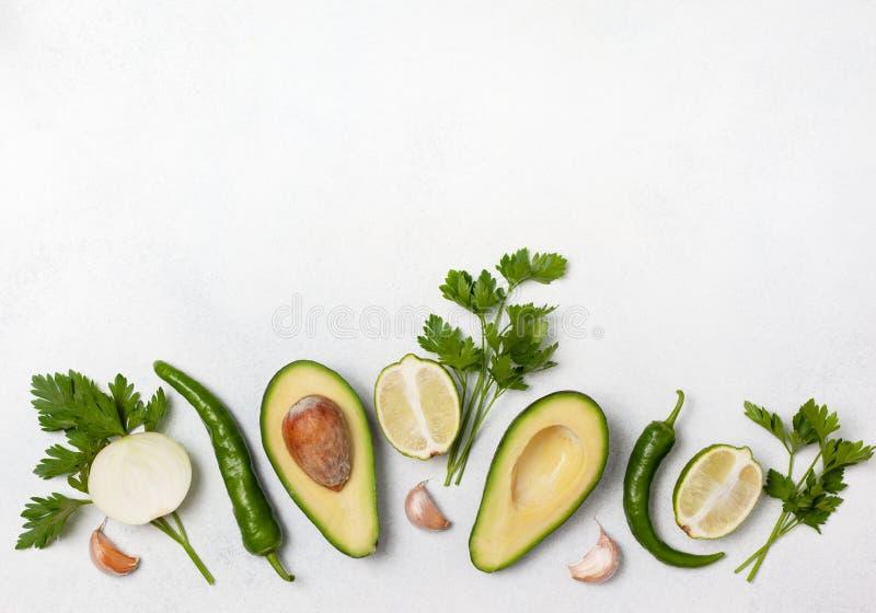 Składniki dla guacamole zdjęcia royalty free