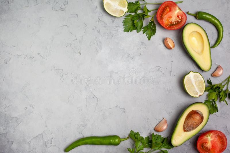 Składniki dla guacamole obraz royalty free