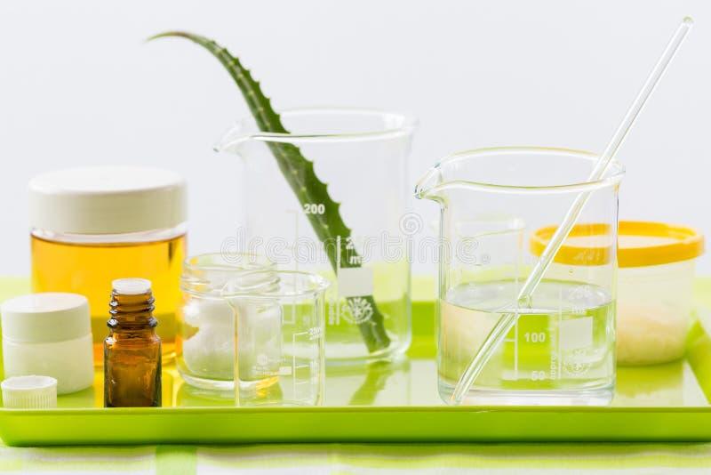 Składniki dla produkci naturalni piękno kosmetyki, zakończenie obrazy royalty free