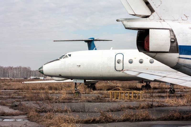 Składowi starzy samoloty zdjęcie stock