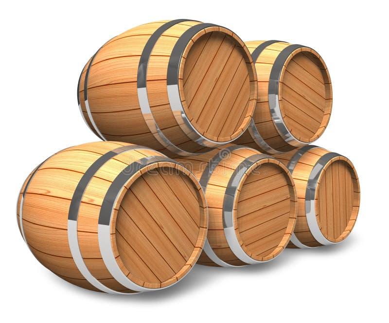 składowy wino ilustracja wektor