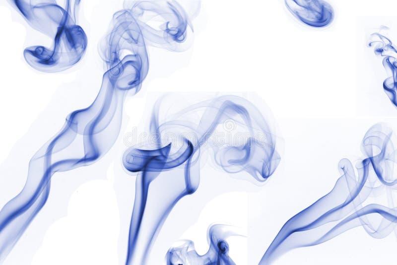 składu błękitny dym obrazy stock