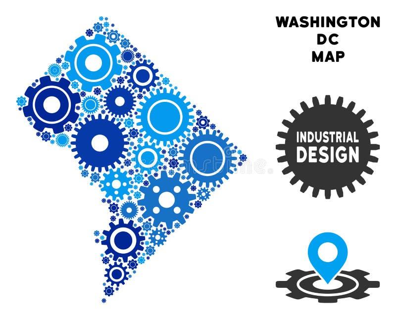 Składu washington dc mapa przekładnie royalty ilustracja
