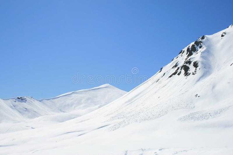 Skłony Talkeetna góry zdjęcia stock