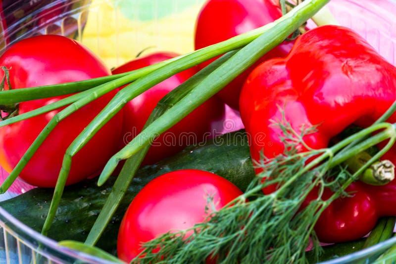 Sk?ad z asortowanymi surowymi organicznie warzywami Detox dieta obraz royalty free
