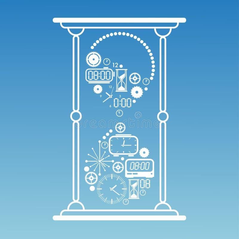 Download Skład z czasów symbolami ilustracja wektor. Ilustracja złożonej z digitalis - 57656915