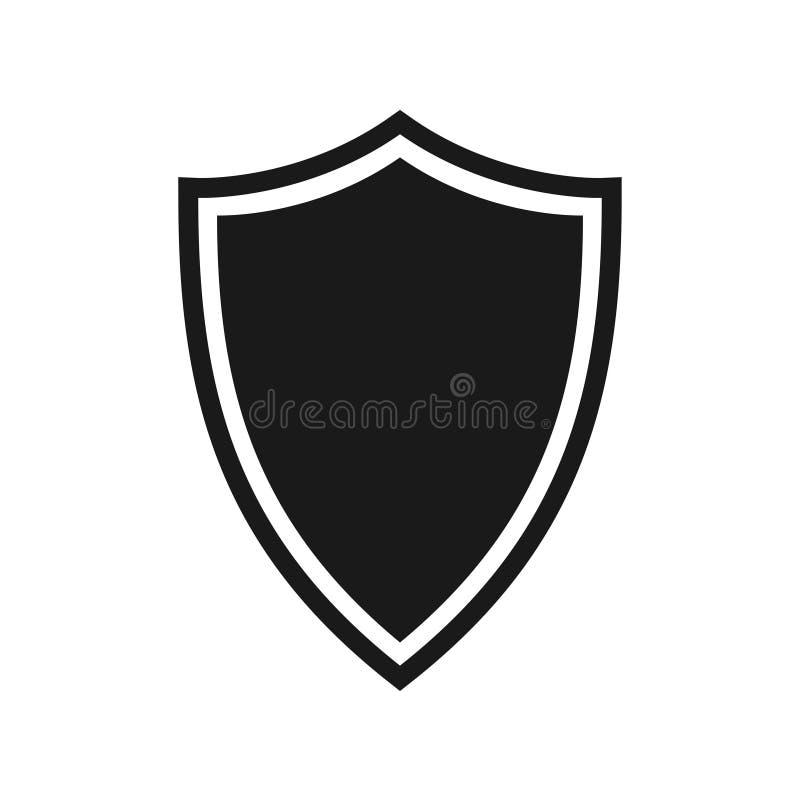 Sk?ld som grafisk symbol f?r symbolskydd royaltyfri illustrationer