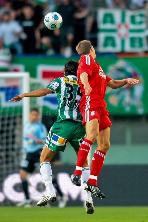 SK Snel versus Liverpool FC stock fotografie