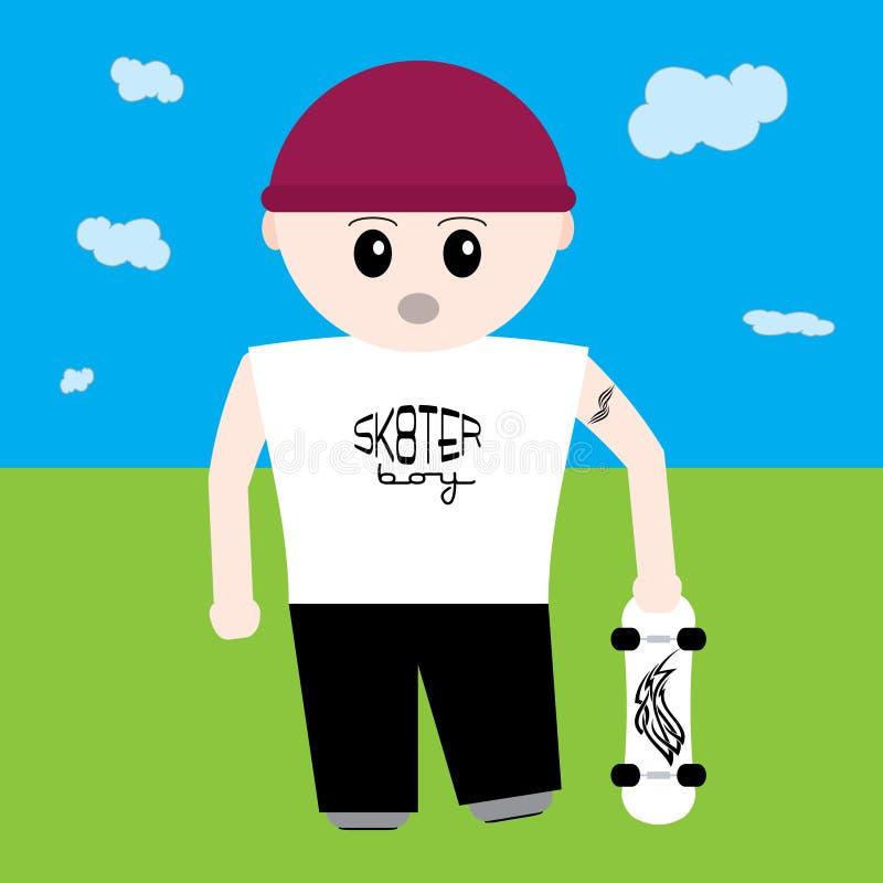 Sk8ter jongen vector illustratie