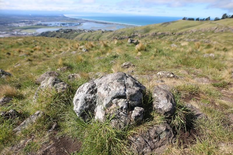 Skała na górze Christchurch obserwacji zdjęcie stock