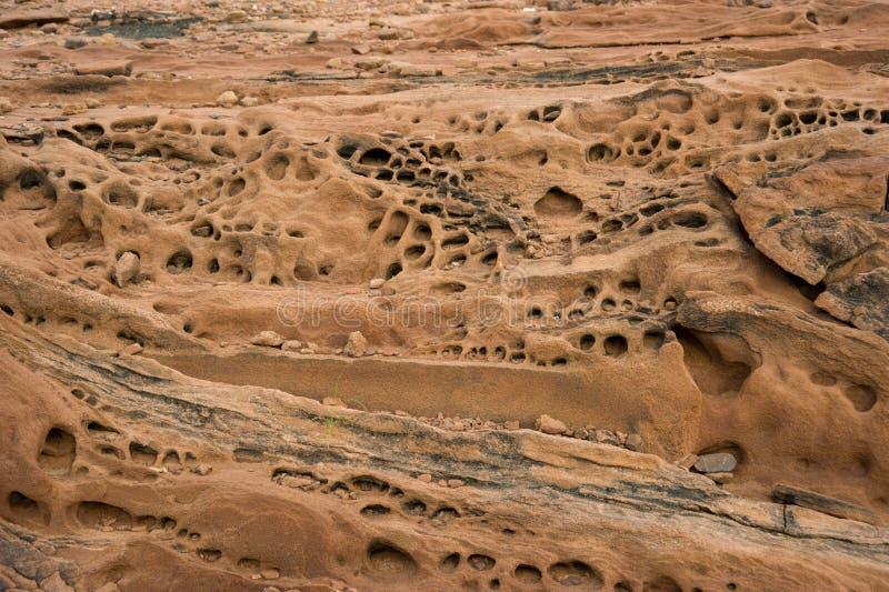 Skał warstwy w Twyfelfontein, Namibia zdjęcia stock
