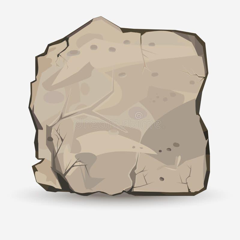 skała duży kamień ilustracji