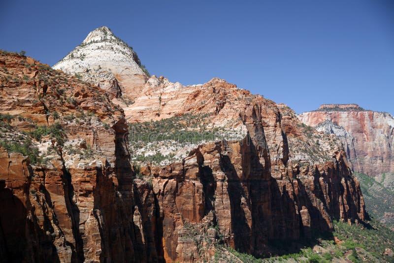 Skała i dolina w Zion parku narodowym, Utah, usa obraz stock