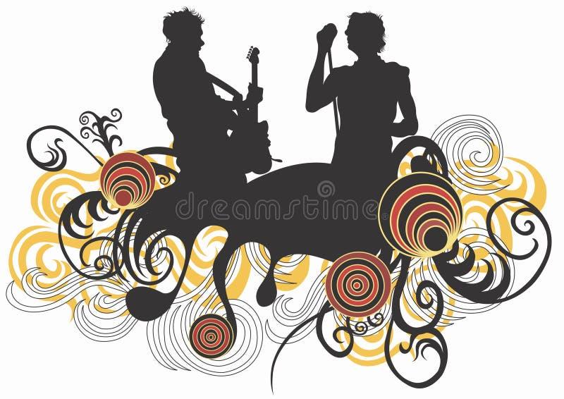 skała koncertowa royalty ilustracja