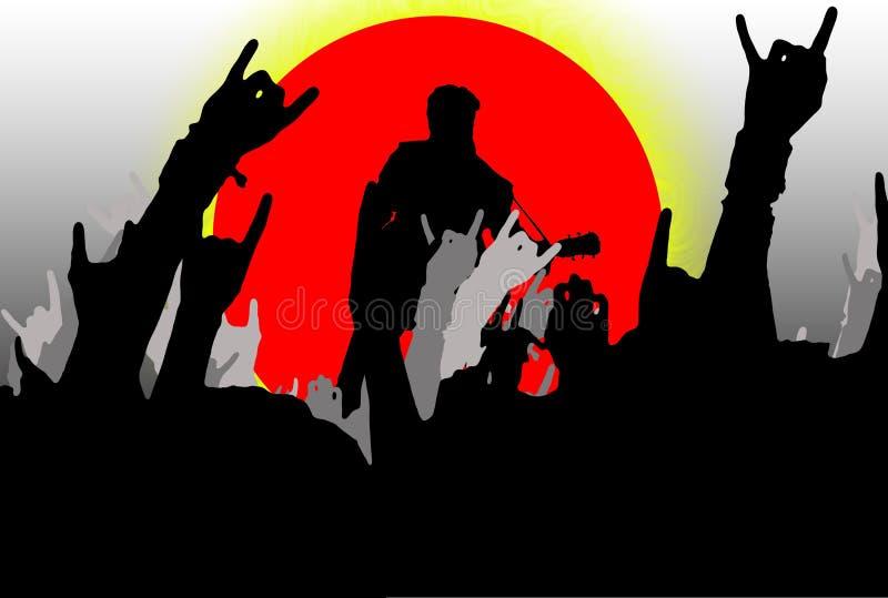 skała koncertowa ilustracji