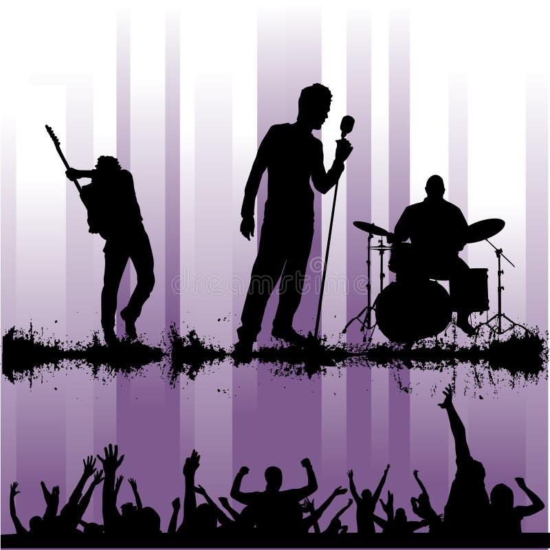 skała koncertowy wektor ilustracja wektor