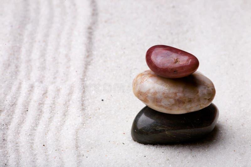 skała ogrodniczego zen. obraz royalty free