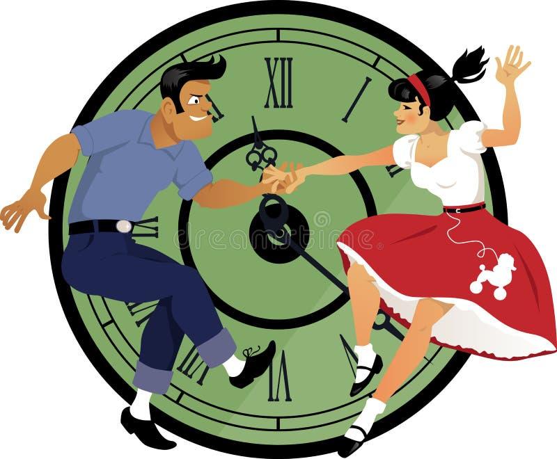 Skała wokoło zegaru royalty ilustracja