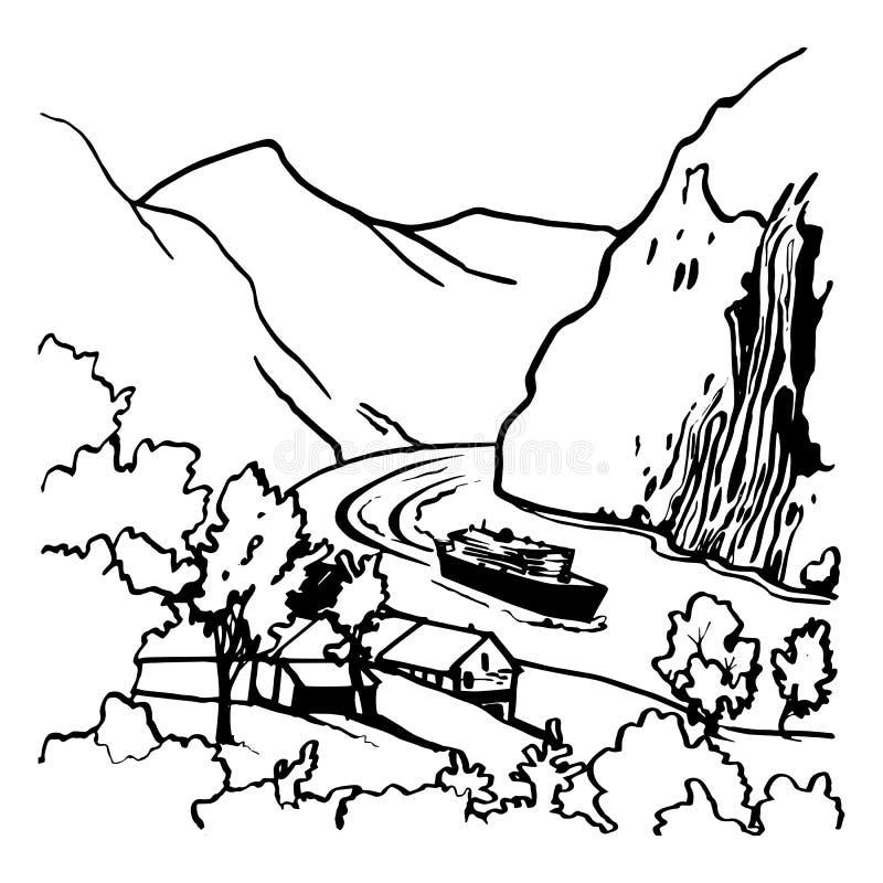 Skały 1 royalty ilustracja