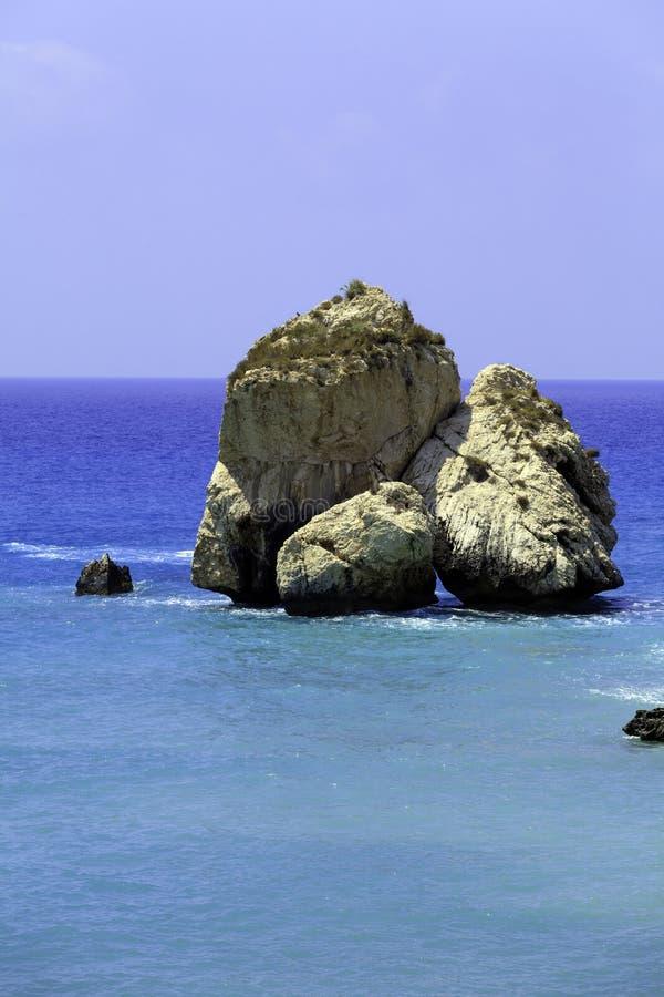 Skały Aphrodite, Paphos, Cypr fotografia royalty free