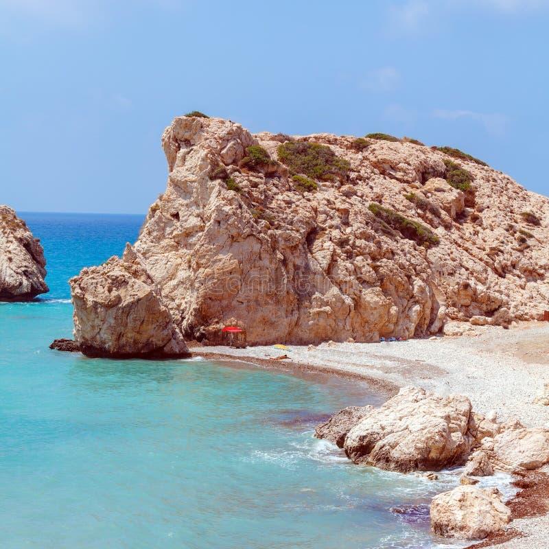Skały Aphrodite, Paphos, Cypr obraz royalty free