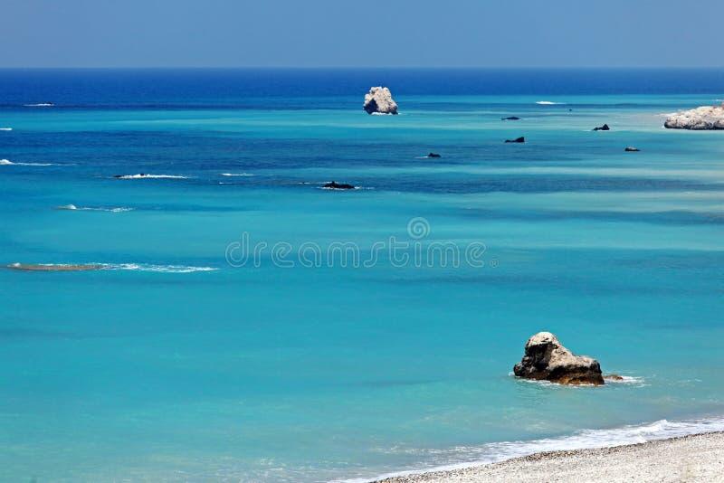 Skały Aphrodite, Paphos, Cypr zdjęcie royalty free