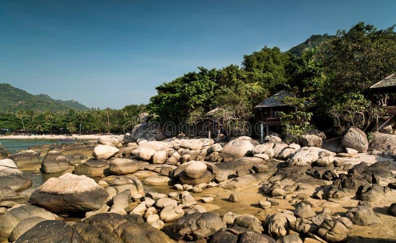 Skały i żagiel, Koh Tao wyspa fotografia royalty free