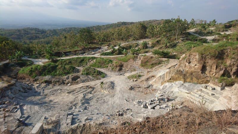 Skały i piaska miejscowego kopalnictwo obraz stock