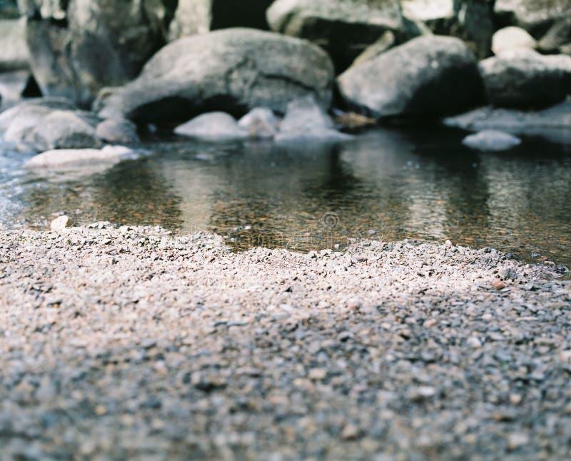 Skały i rzeka obrazy royalty free