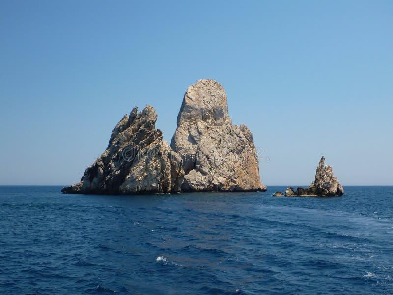Skały Islas Medes 2 zdjęcie royalty free