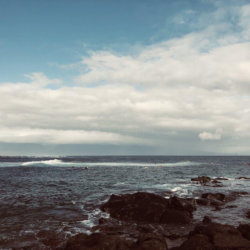 Skały na Haleakala plaży obraz royalty free