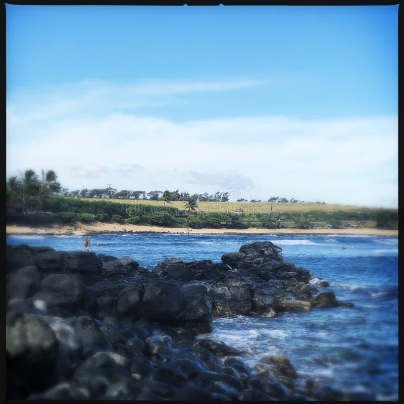 Skały na Haleakala plaży obrazy royalty free