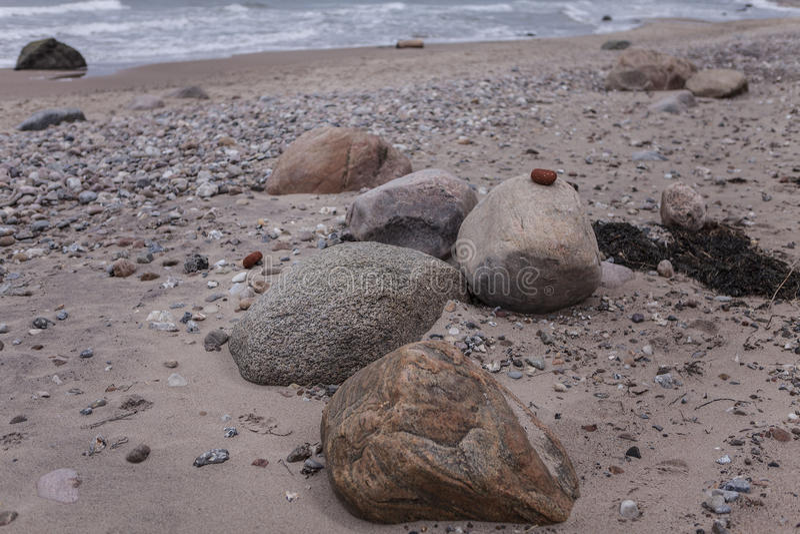 Skały w piasku fotografia royalty free