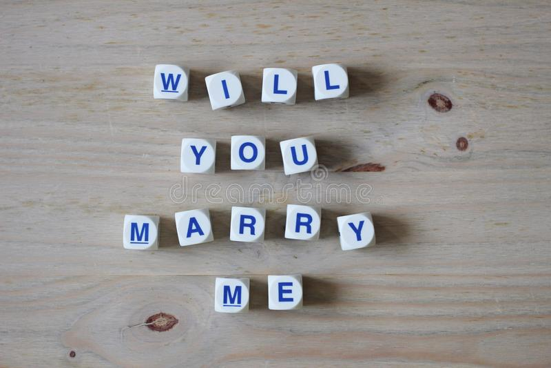 Ska dig att gifta sig mig royaltyfri bild