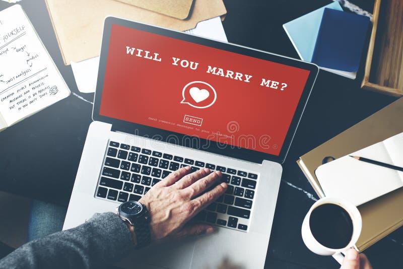 Ska du att gifta sig mig? Valentine Romance Heart Love Passion begrepp royaltyfria foton