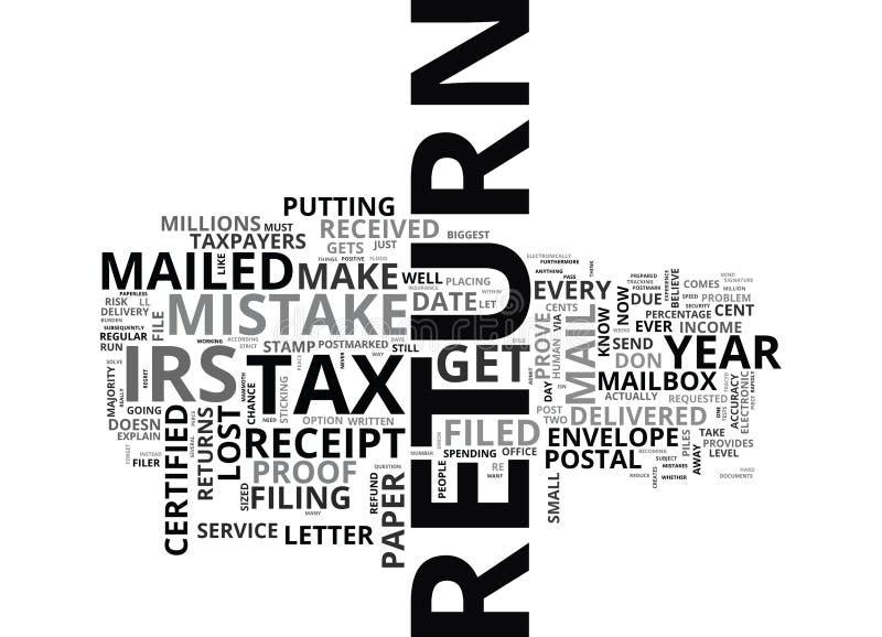 Ska du göra cent att missförstå detta moln för skattsäsongordet vektor illustrationer