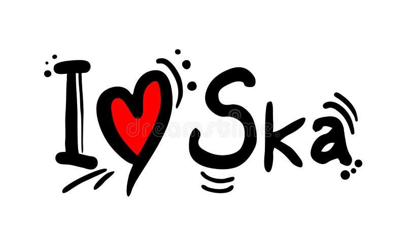 Ska-Musik-Artliebe lizenzfreie abbildung