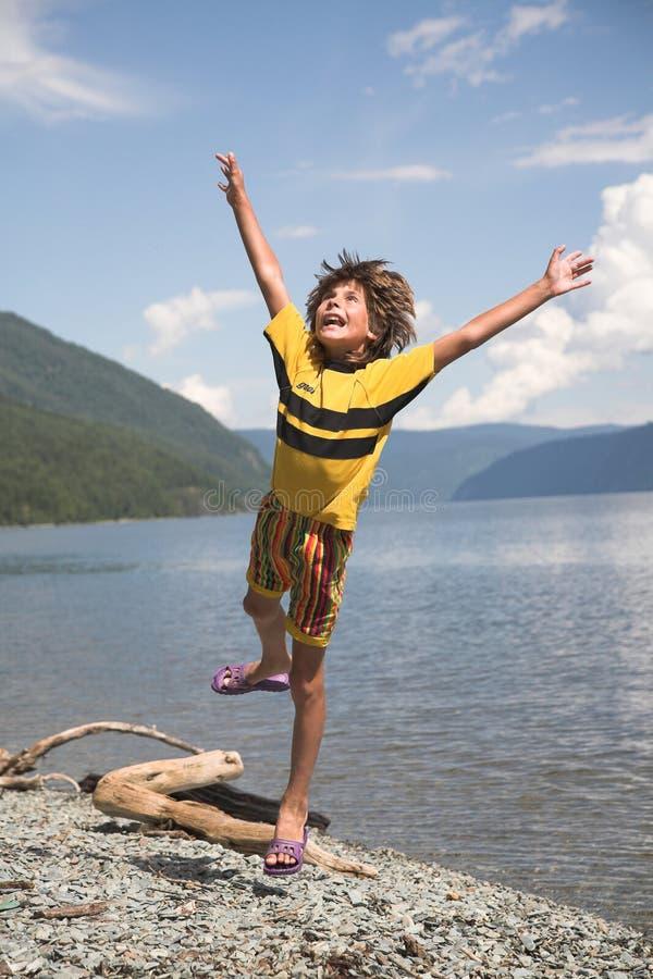 skacz chłopca fotografia royalty free