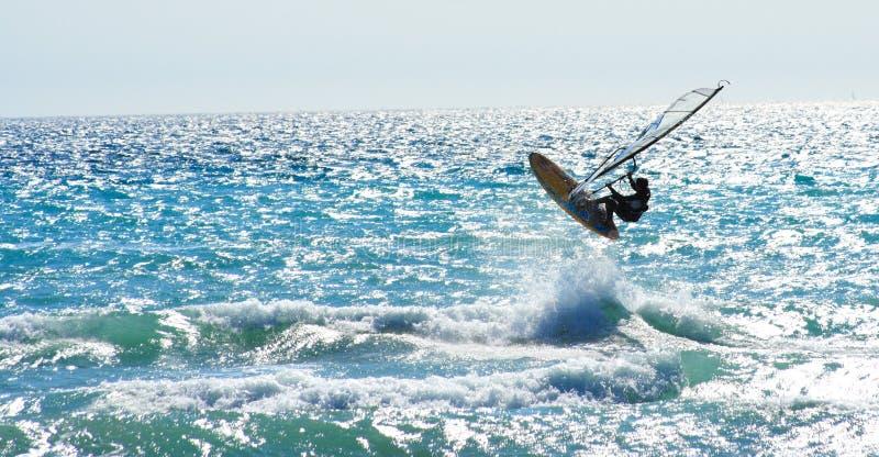 skacz windsurf fotografia royalty free