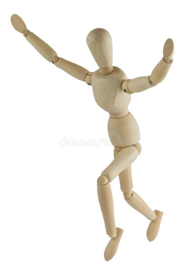 skacze mannequin drewnianego zdjęcia royalty free