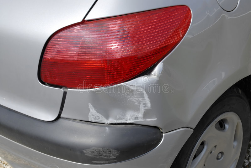 skada för bilolycka arkivbilder