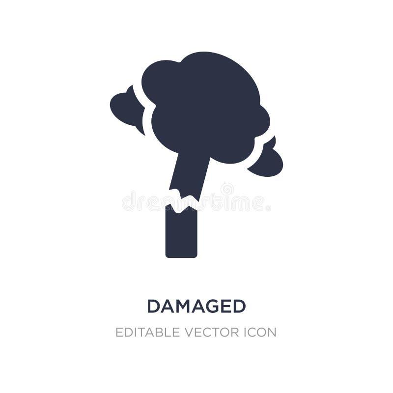 skadad symbol på vit bakgrund Enkel beståndsdelillustration från naturbegrepp stock illustrationer