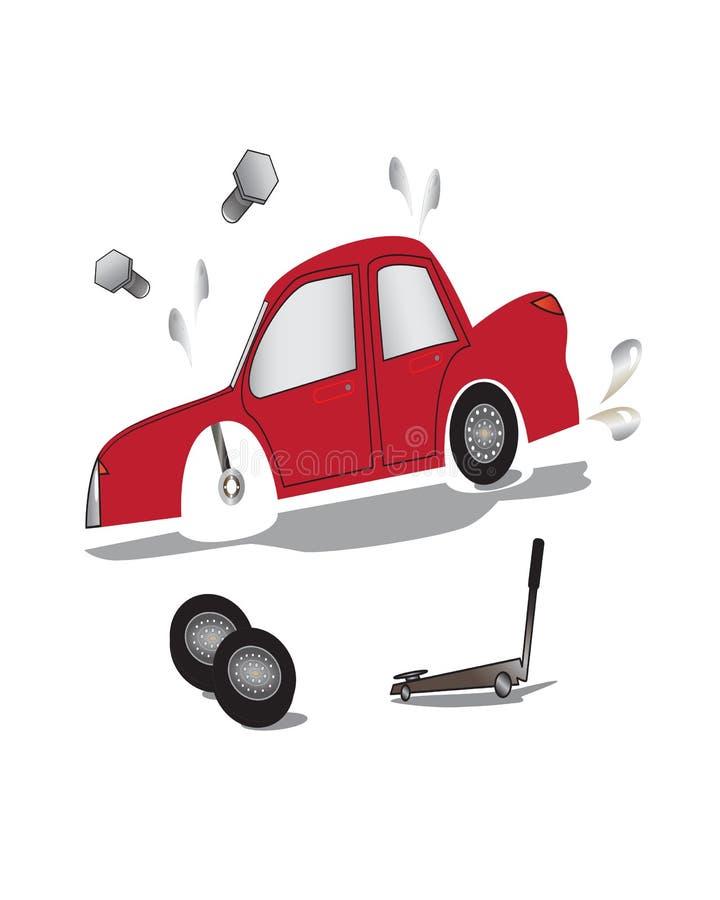 Skadade röda bilar royaltyfri foto