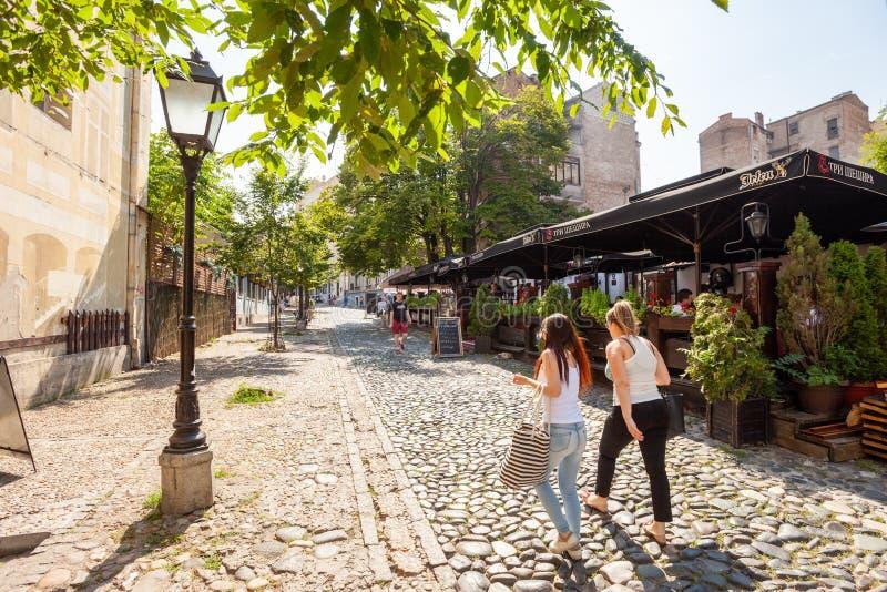 Skadarlija, Belgrado fotos de stock royalty free