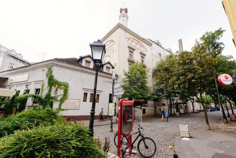 Skadarlija Bohemian Historic Street in Belgrade stock image