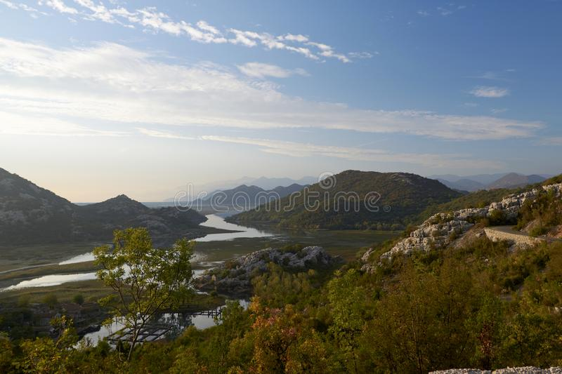 Skadarsko jezero. Millions of years ago Skadar Lake was part of the Adriatic Sea, as evidenced by shells and other archaeological finds in the region royalty free stock photography