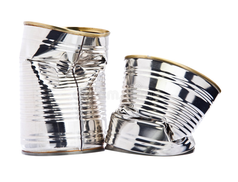 skadlig cans tin två royaltyfria foton